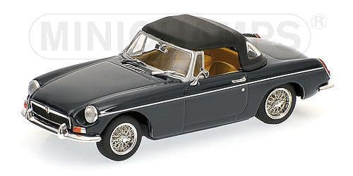 MINICHAMPS 430 131044 - MGB Cabrio With Csld Softtop 1968 - Blue